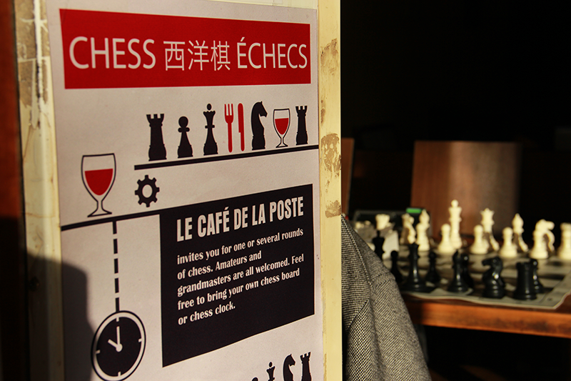 Featuring our chess poster