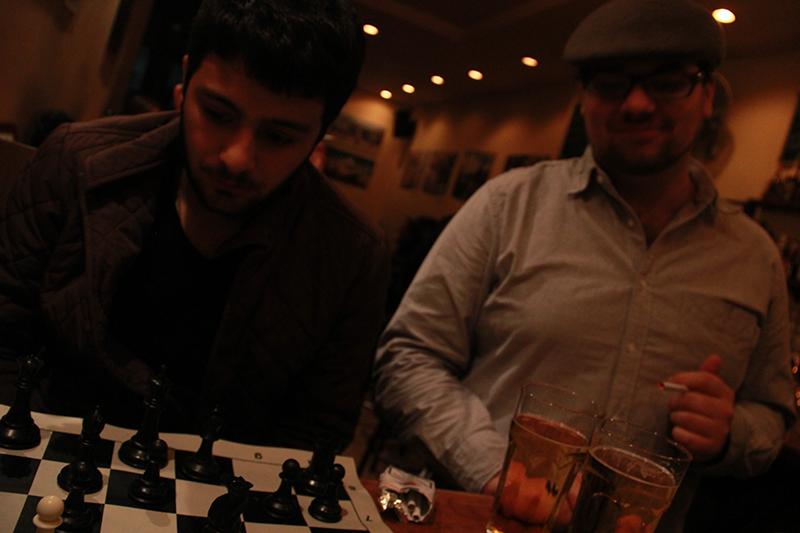 Late night chess game