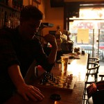 Bartender plays chess