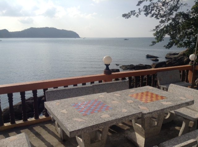 chess tables at the gulf of thailand